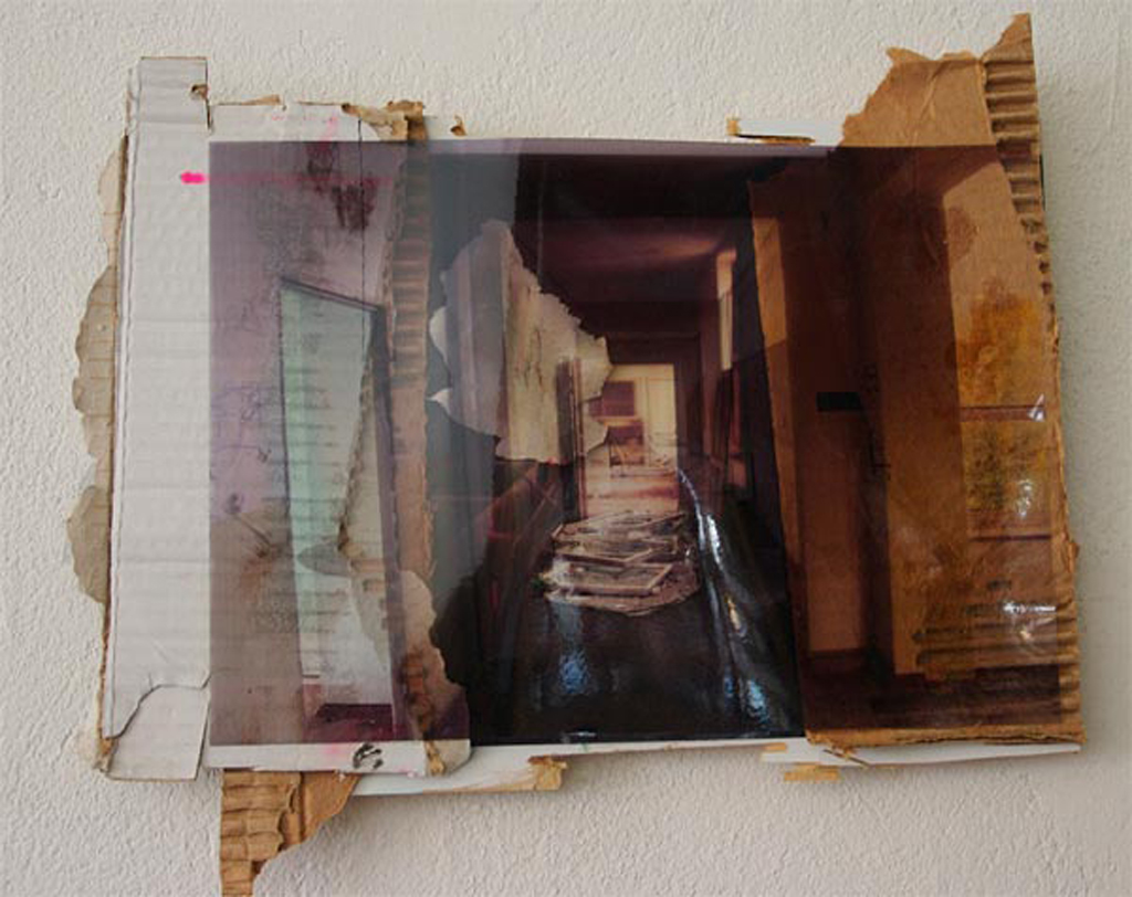 werbellinsee, 24 x 30 cm, collage, 2009, Jane Hughes