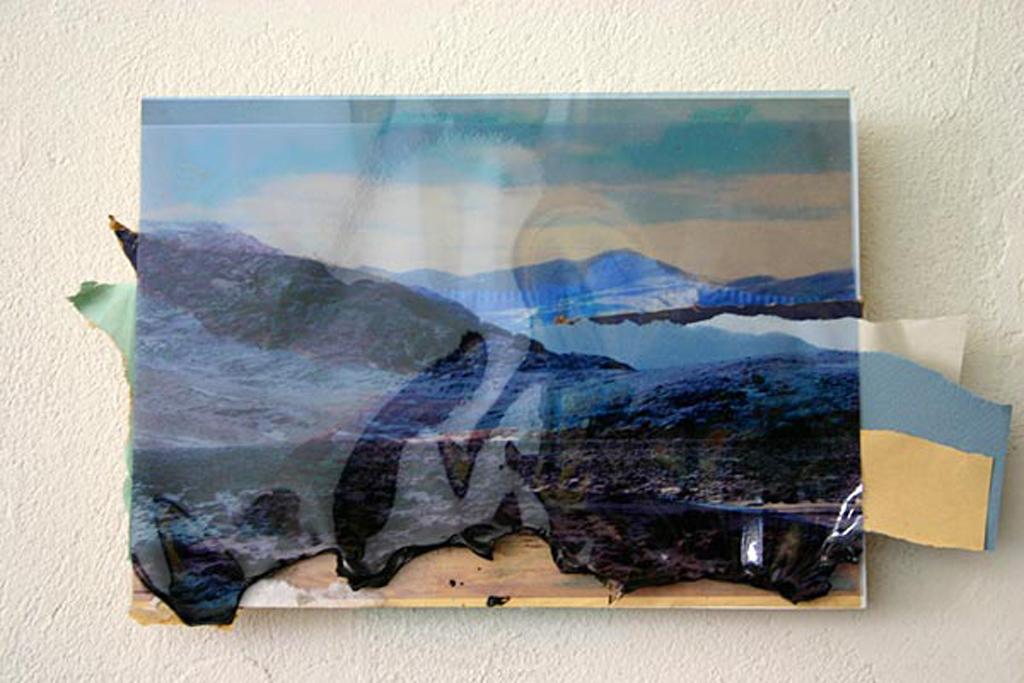 glacier, Iceland,  24 x 30 cm, collage, 2009, Jane Hughes