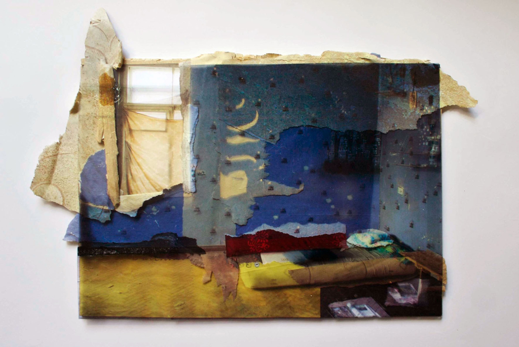 Kaliningrad, 24 x 30 cm, collage, 2008, Jane Hughes