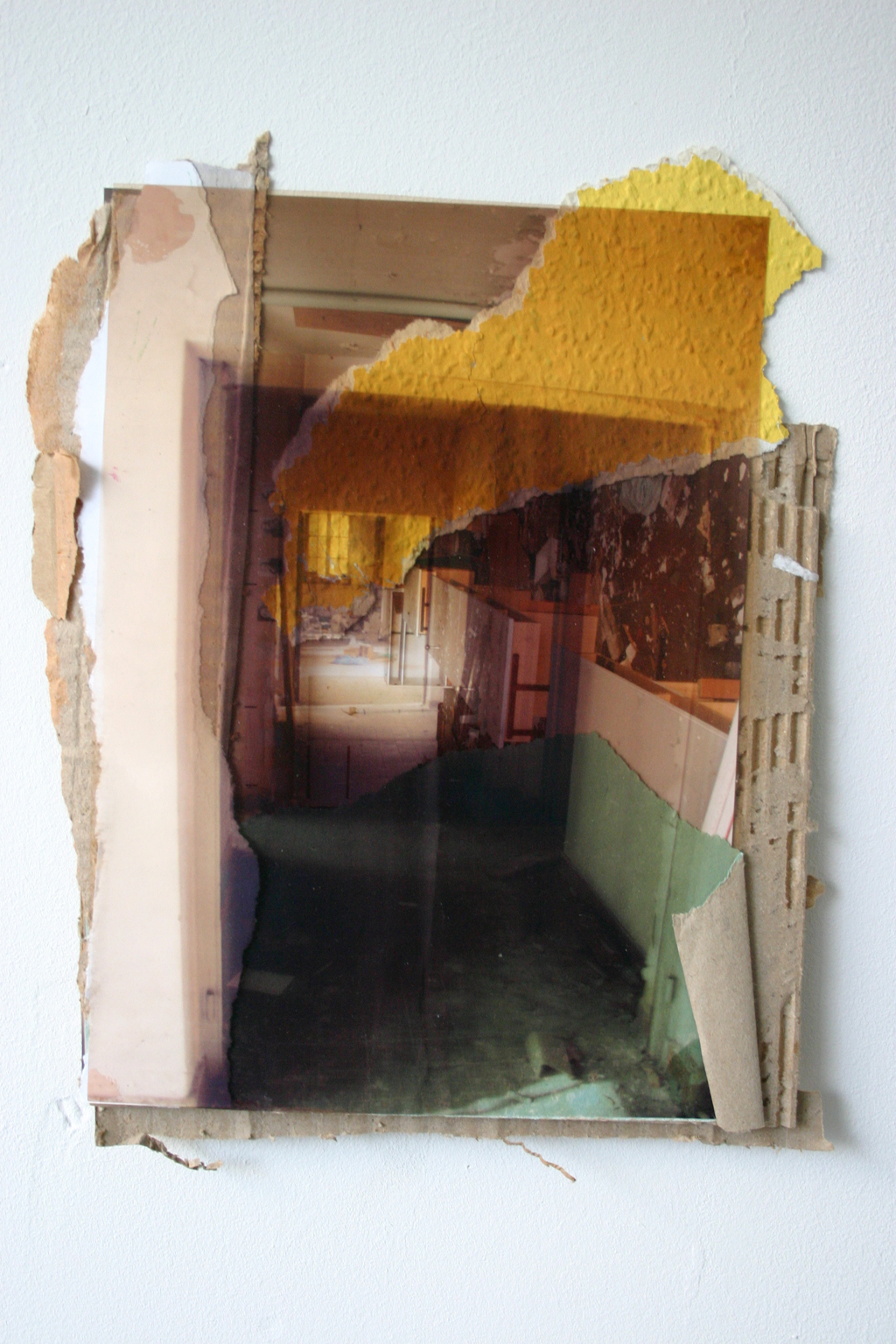 werbellinsee-3, 24 x 30 cm, collage, 2008, Jane Hughes