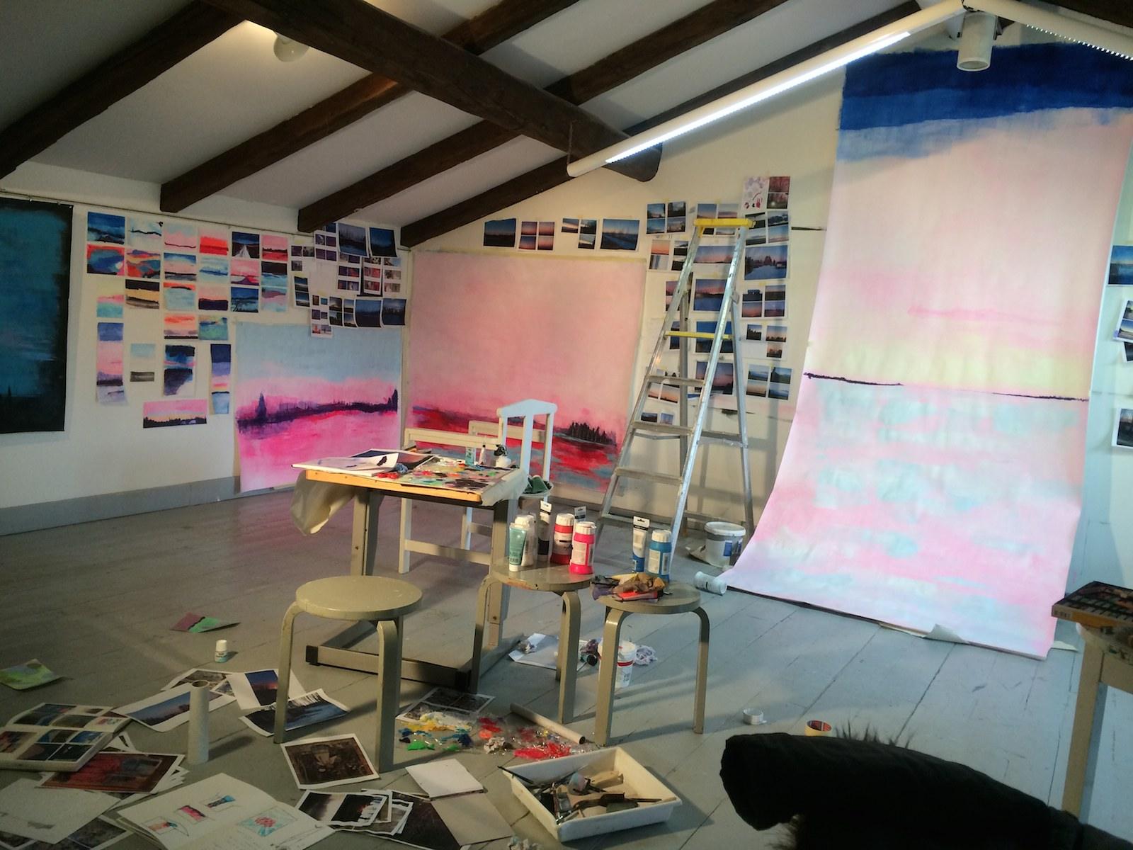 Residency studio at Atelje Stundars, , Jane Hughes Stundars Museum, Solf, Finland, 2015