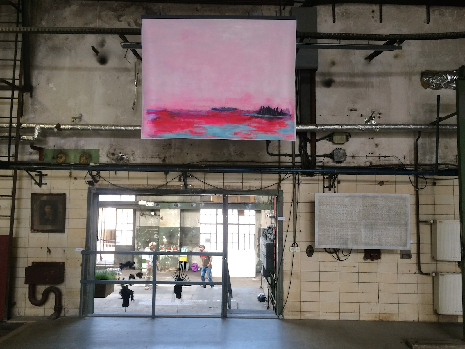 Installation shot, Landscape Metropolis, Former power station, Schönweide, Berlin, 2015