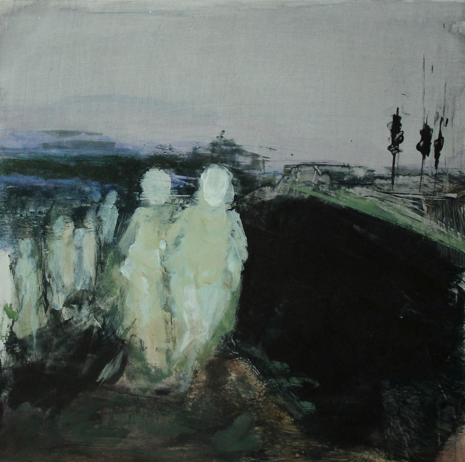 Black river 40 cm x 40 cm, acrylic on mdf, 2019