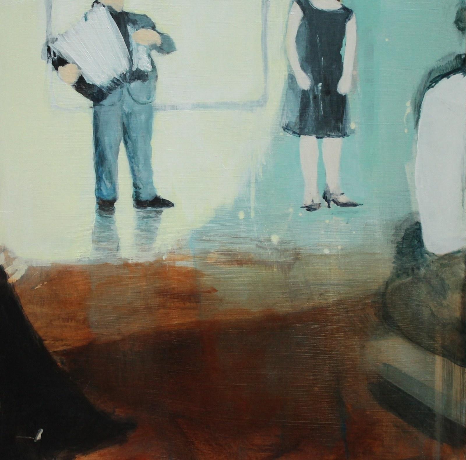 Duet 40 cm x 40 cm, acrylic on mdf, 2019