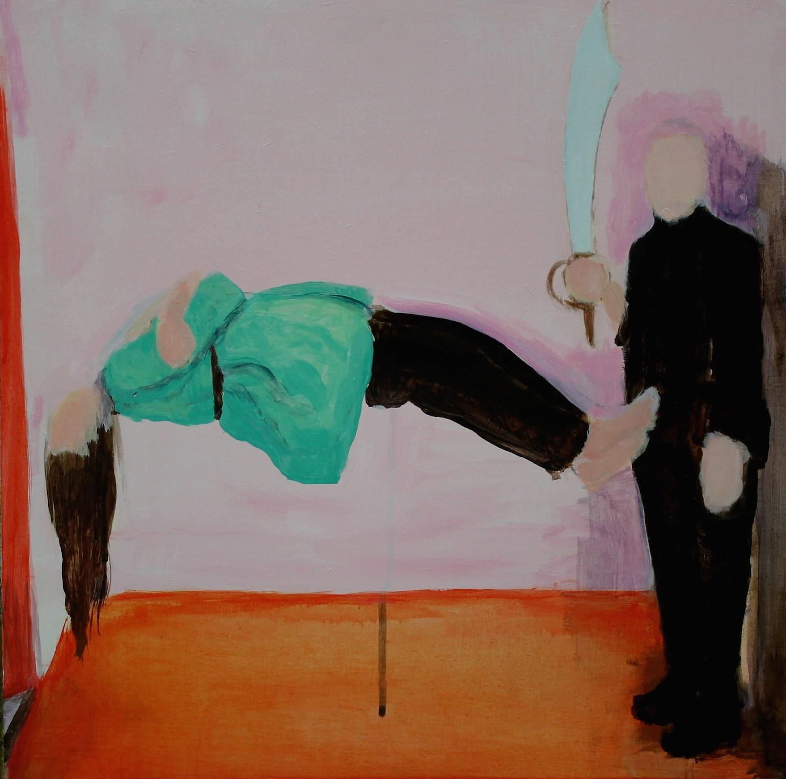 Magician – Priest, Achill, 1971 40 cm x 40 cm, acrylic on mdf, 2019