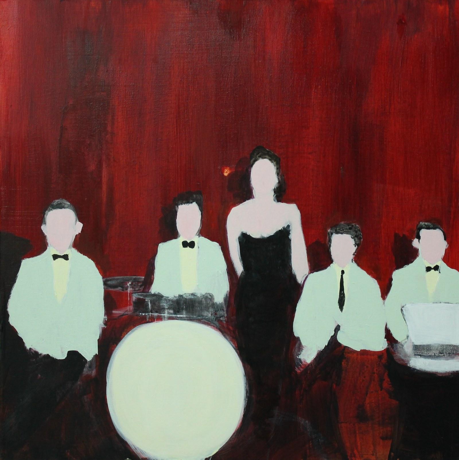 The Twilight Serenaders Dance Band, Ballina, 1945 40 cm x 40 cm, acrylic on mdf, 2019