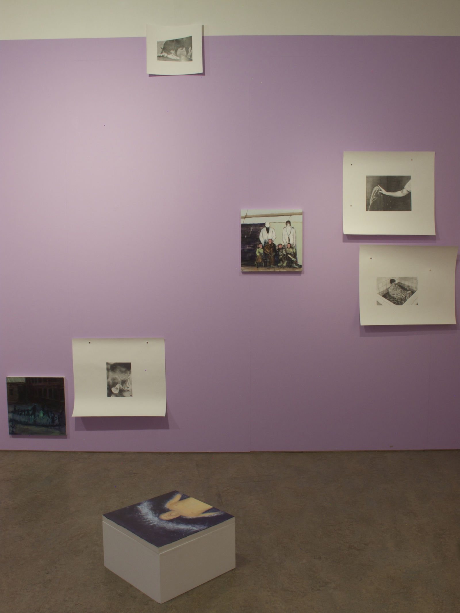Installation view, Someone Else's Stories, a collaboration with Taru Kallio, Galleria Huuto