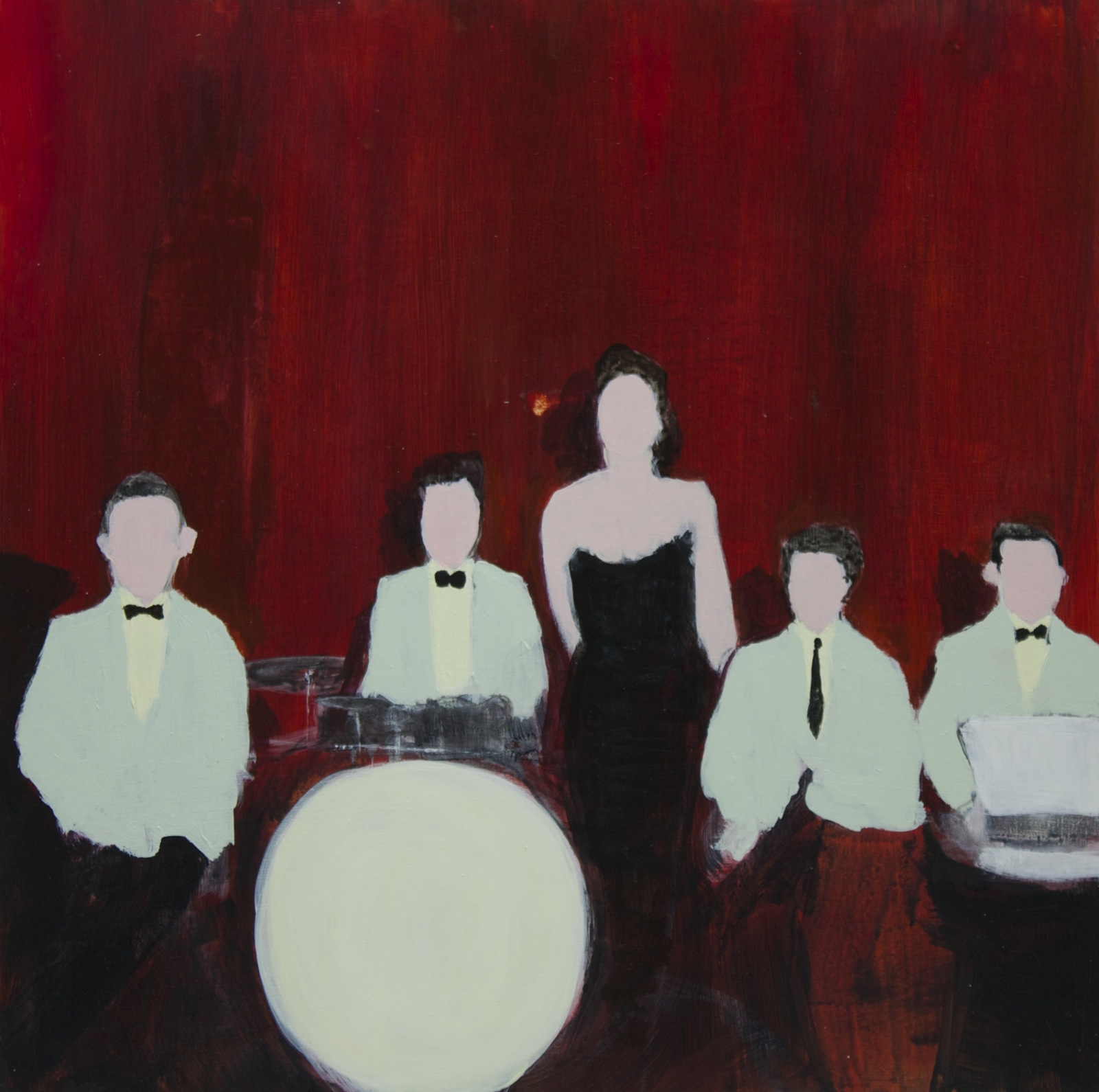 The Twilight Serenaders Dance Band, 1945, 40 cm x 40 cm, acrylic on MDF, 2019