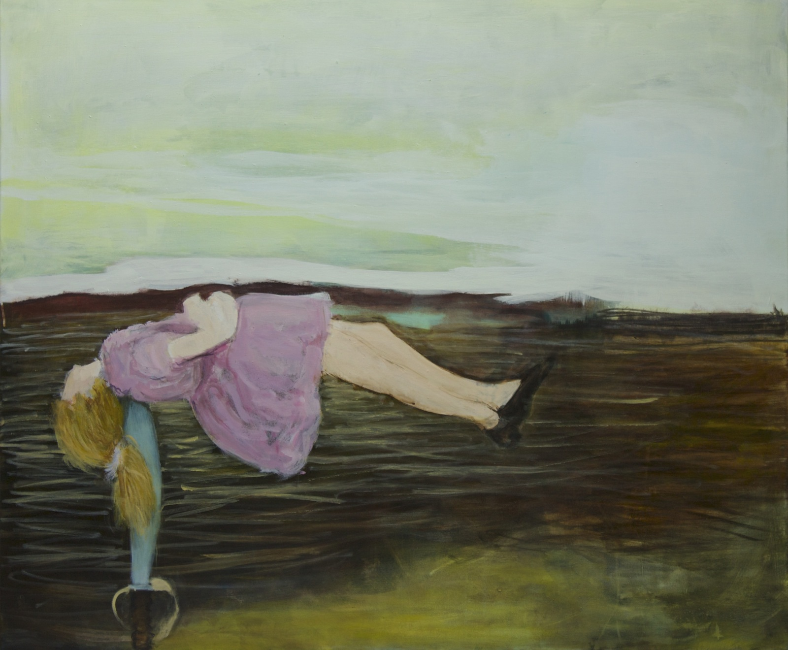 A girl from Achill, 100 cm x 120 cm, acrylic on canvas, 2020