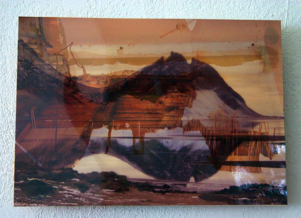 iceland,  24 x 30 cm, collage, 2009, Jane Hughes