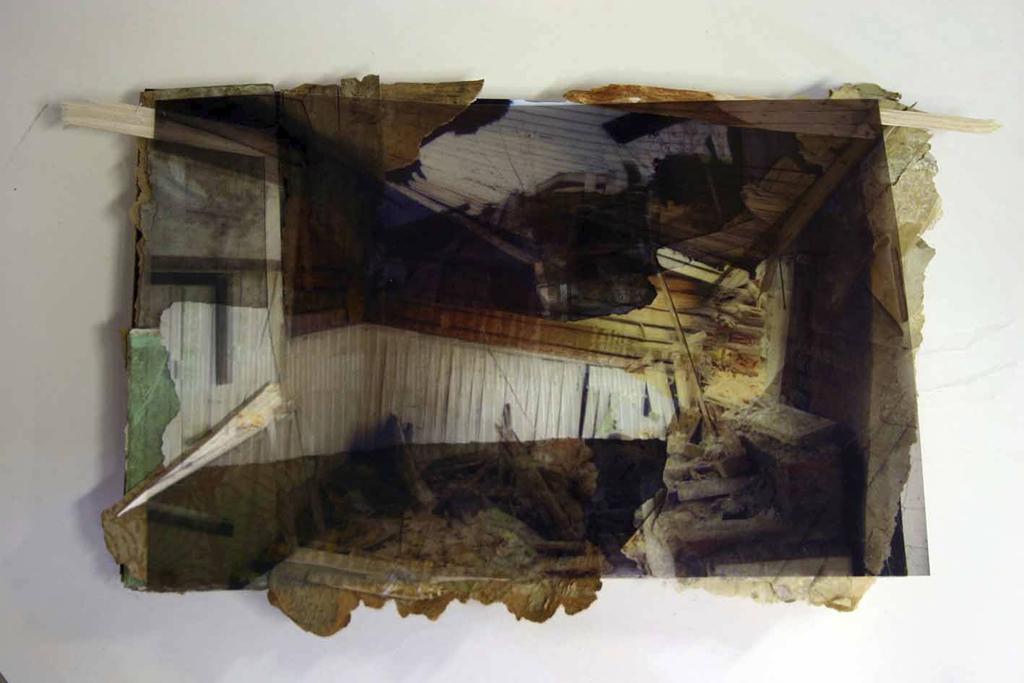 Kruunnuvuori, Helsinki,  24 x 30 cm, collage, 2009, Jane Hughes