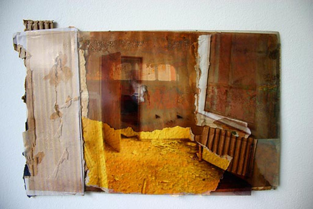 werbellinsee-2, 24 x 30 cm, collage, 2008, Jane Hughes