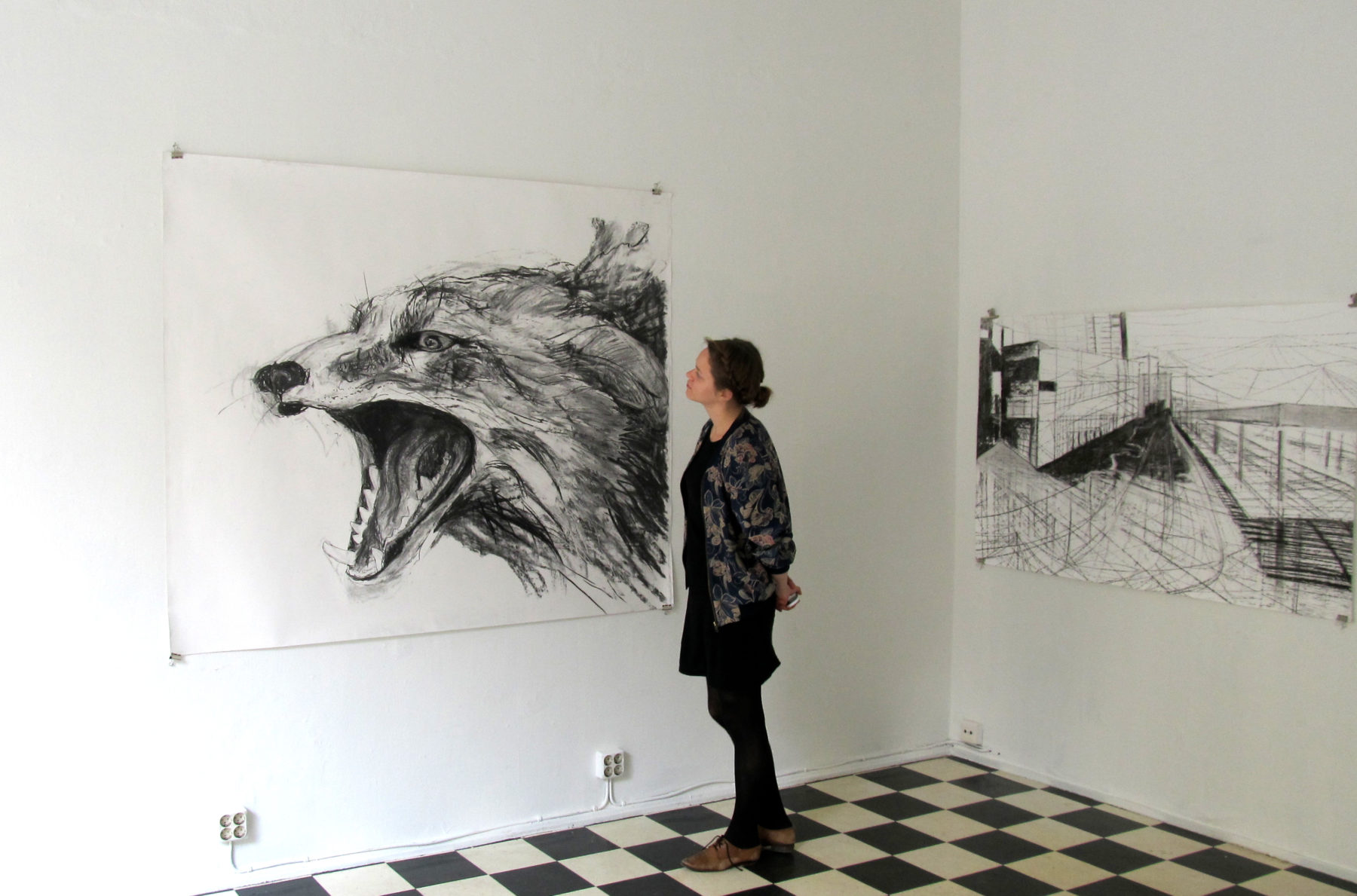 VULPICIDE /CITYCIDE (2013) by Jane Hughes & Taru Kallio installation view at Sorbus Galleria, Helsinki, Finland.