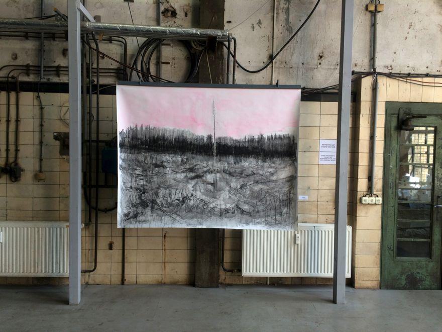 Installation view, Landscape Metropolis, Former power station, Schönweide, Berlin, 2015, Jane Hughes