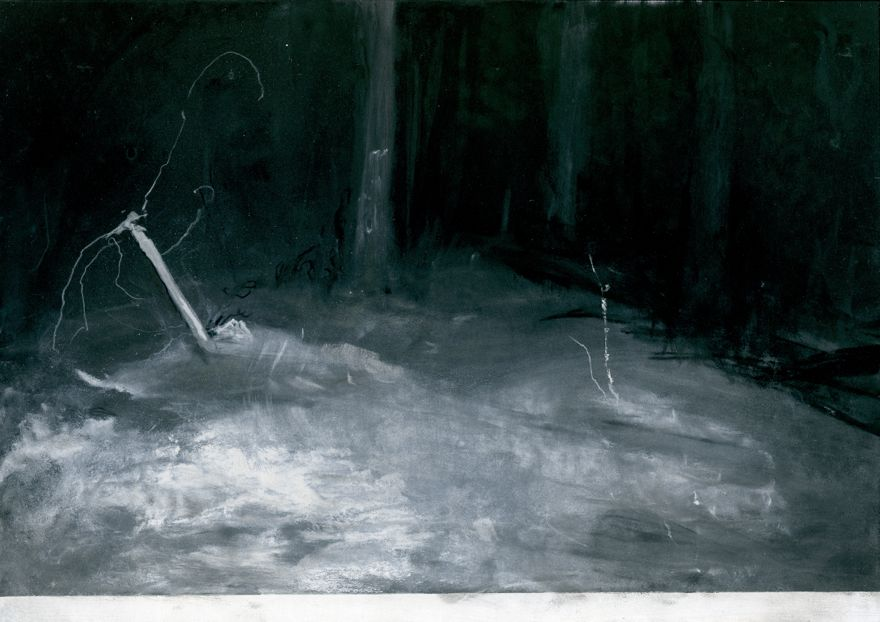 Gods & Demons of the forest (2014-2015) Charcoal, pastel on paper, 24x30cm, Jane Hughes