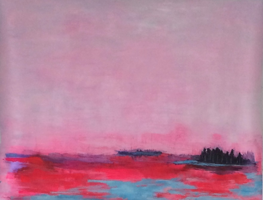 Lullabyes in glass wilderness, 150cm x 180cm , acrylic on paper, 2015, Jane Hughes