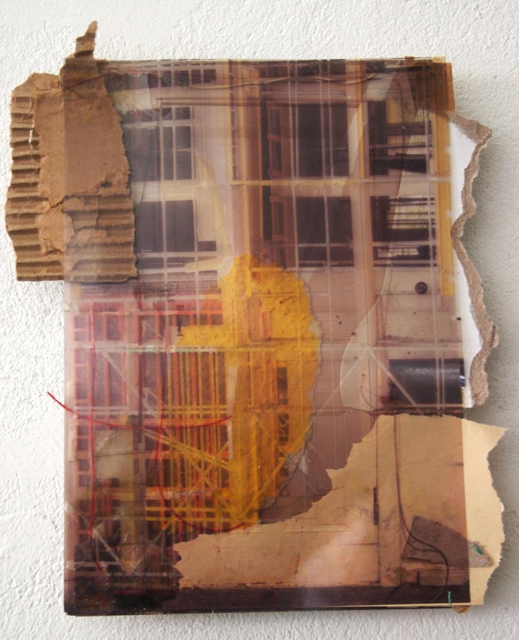 Karl-marx-strasse-berlin, 24 x 30 cm, collage, 2008, Jane Hughes