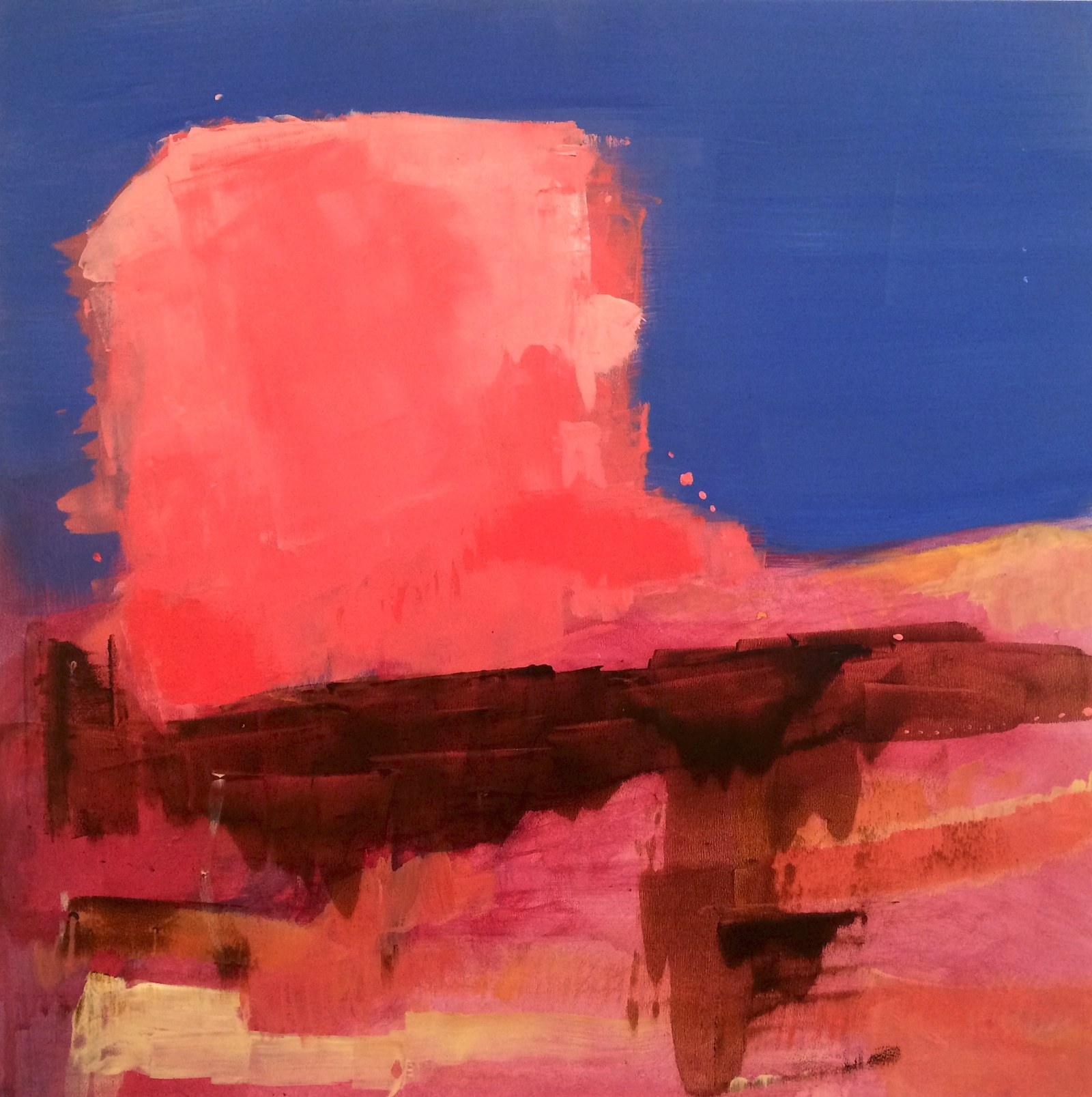 how time feels (sanguine), 40 x 40 cm, 2016, Jane Hughes