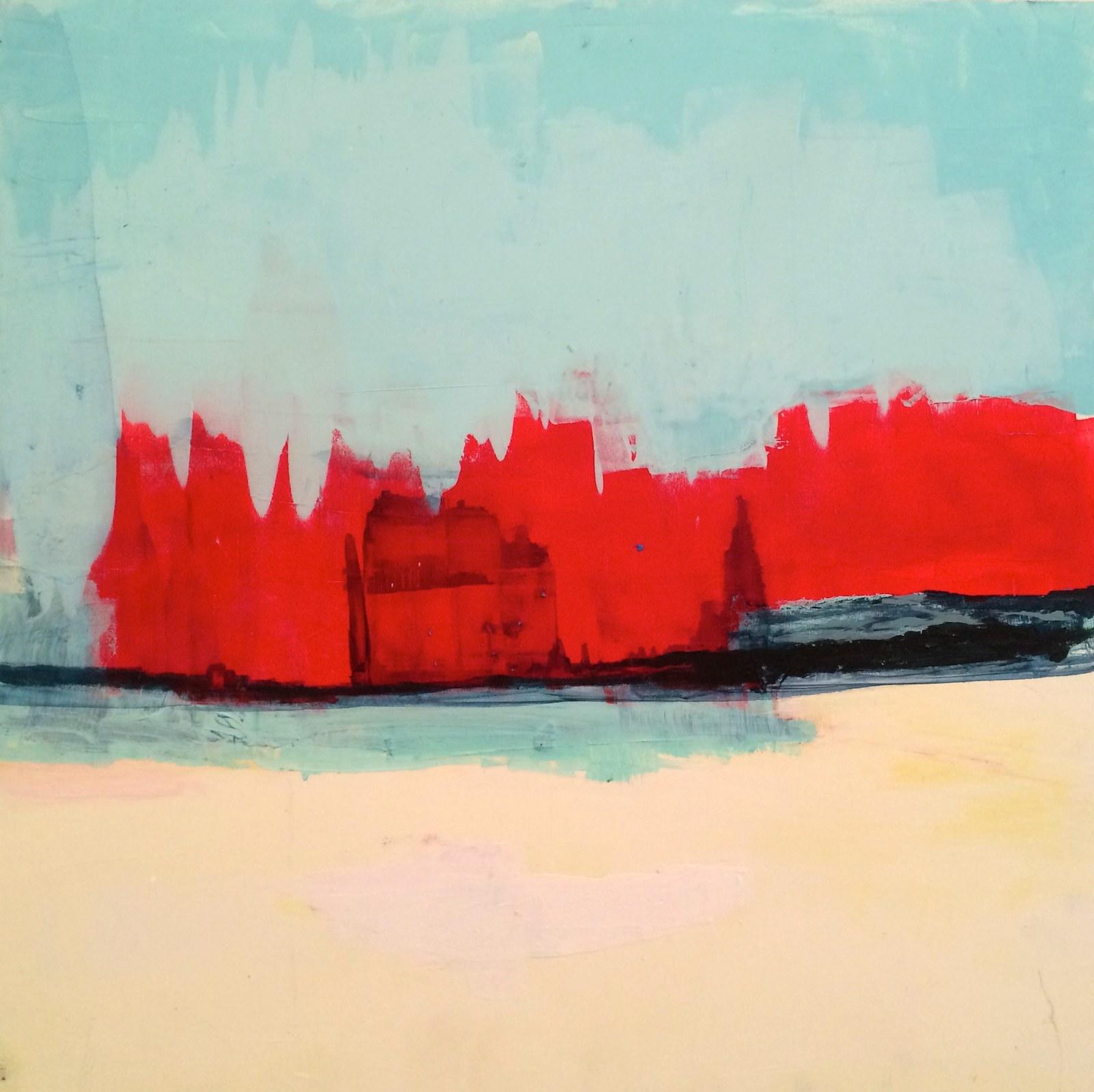 how time feels (burning), 40 x 40 cm, 2016, Jane Hughes