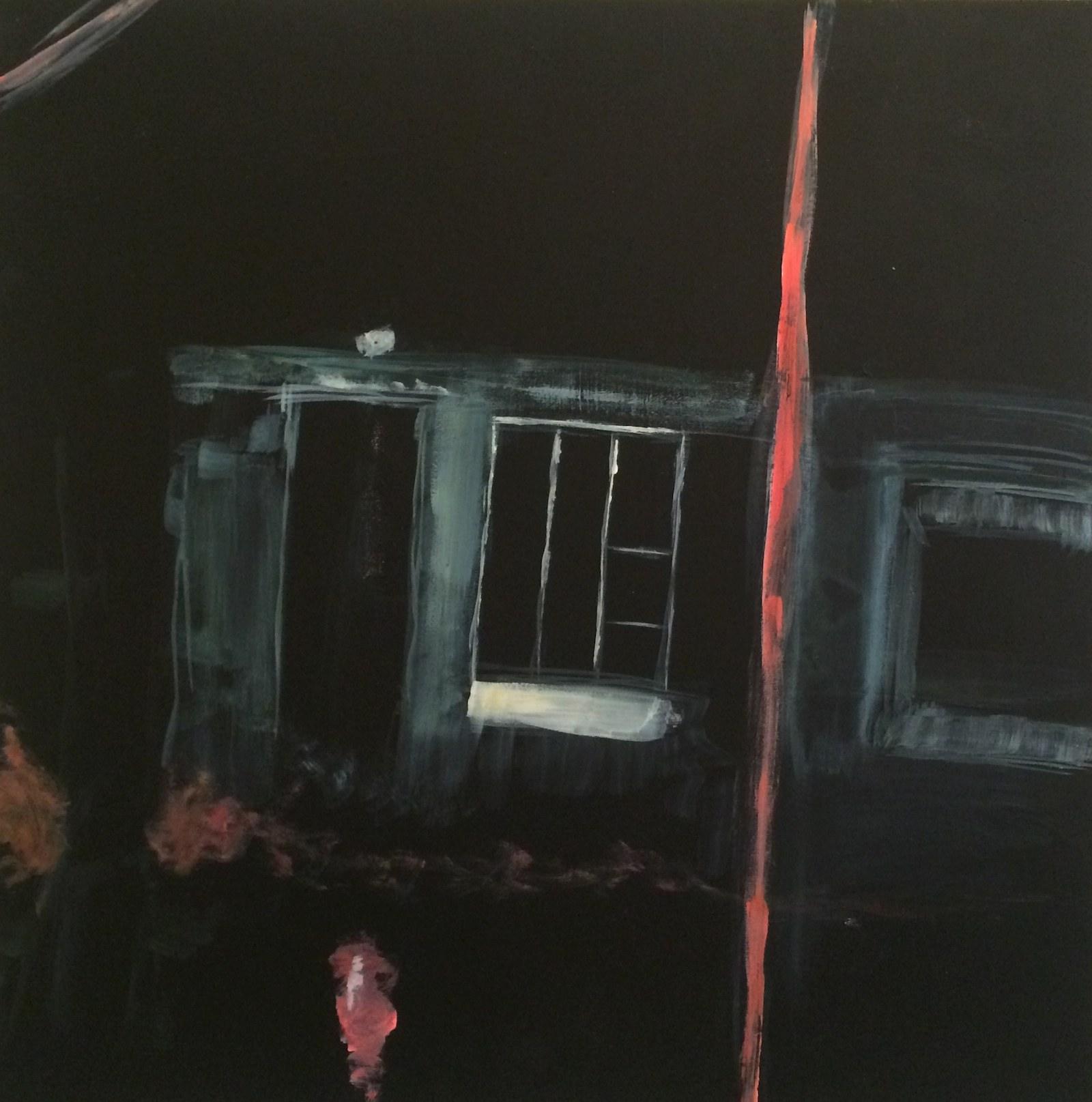 outhouse, 40 x 40 cm, 2016, Jane Hughes