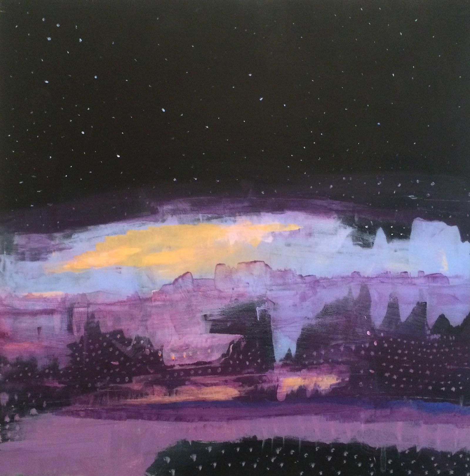 northern lights, 40 x 40 cm, 2016, Jane Hughes