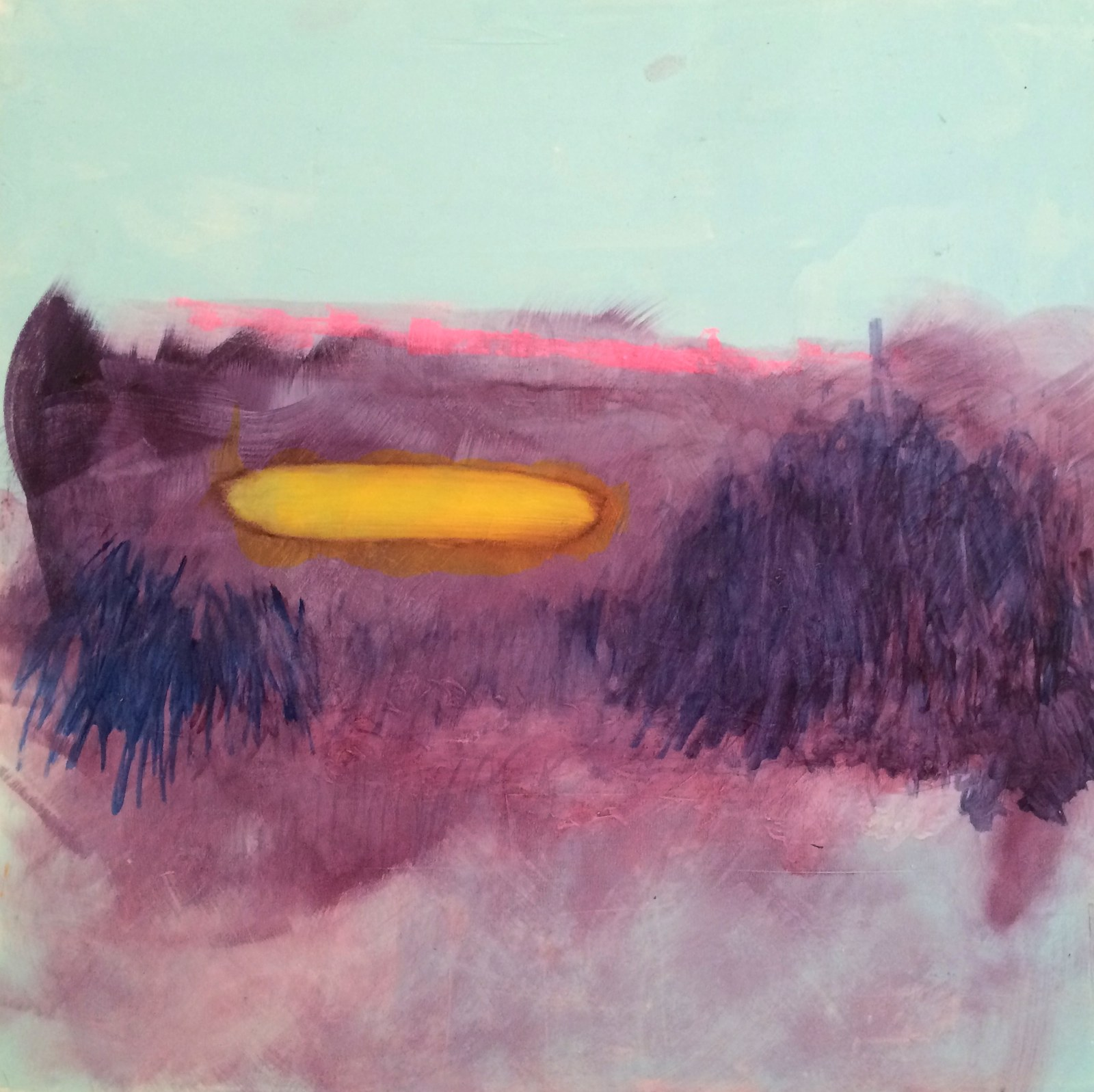 How time feels (banana boat), 40 x 40 cm, 2015, Jane Hughes