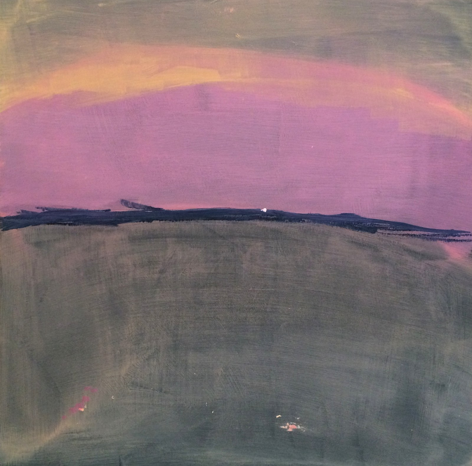 How time feels ( sourdine), 40 x 40 cm, 2015, Jane Hughes