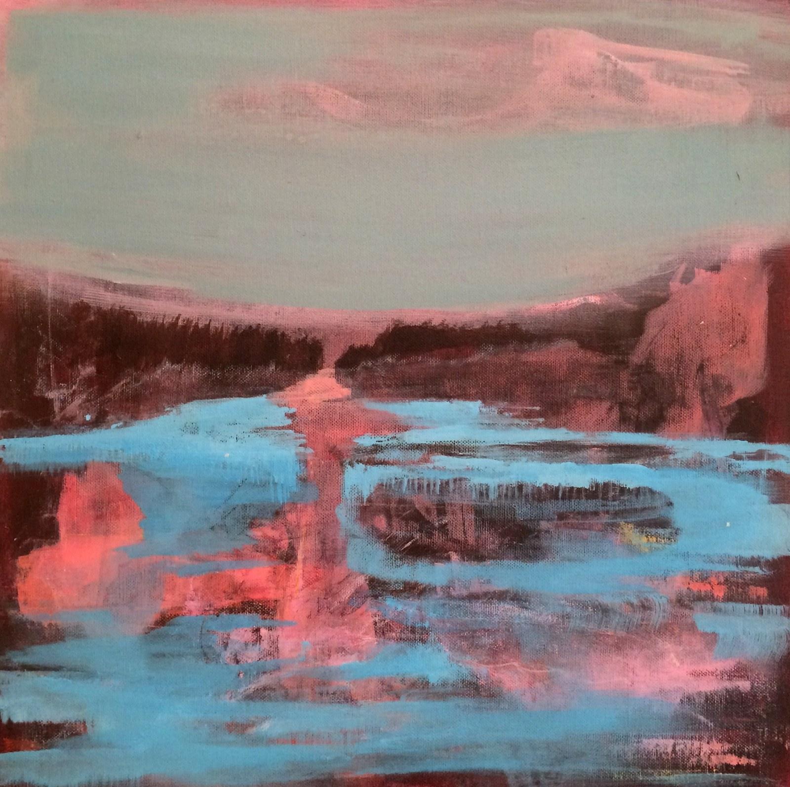 icy valley, 40 x 40 cm, 2016, Jane Hughes