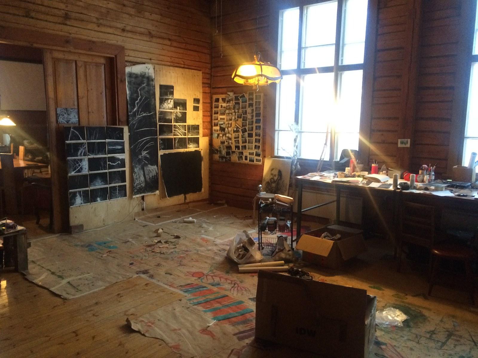 Studio, AiR Rasi637, Finland, Winter 2014, Jane Hughes